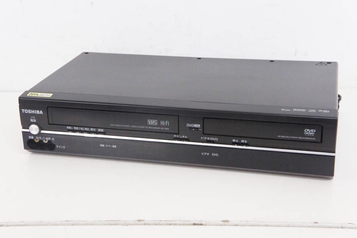 休日 安心の90日保証 中古 東芝TOSHIBA 贈与 SD-V800 DVDプレーヤー一体型VHSビデオデッキ VTR一体型DVDビデオプレーヤー