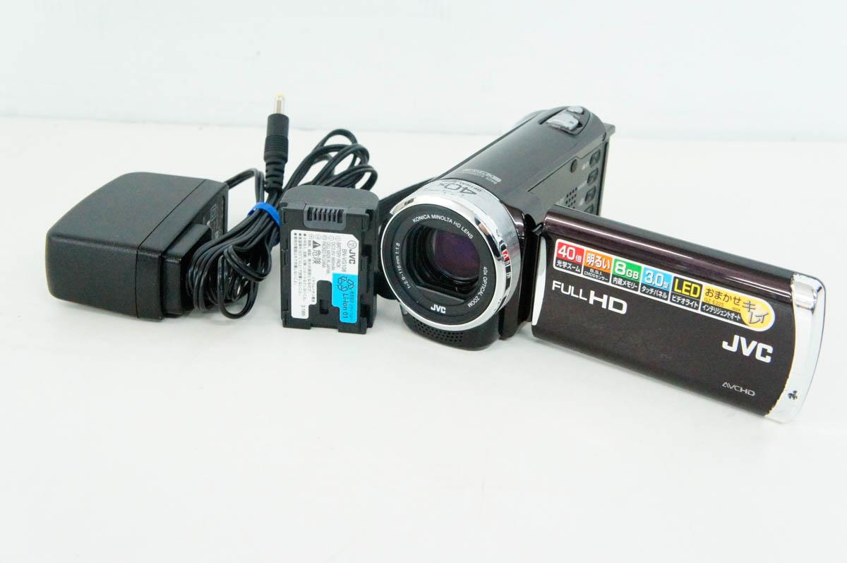 【中古】JVC Victorビクター デジタルムービー エブリオEverio GZ-E225 8GB内蔵メモリー ビデオカメラ
