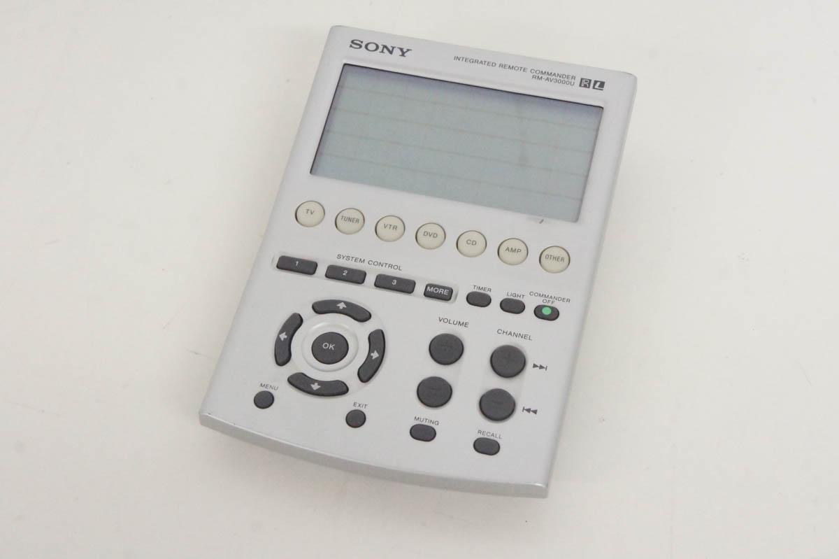 安心の90日保証 中古 SONYソニー 期間限定特別価格 激安卸販売新品 学習リモコン 学習機能付き多機能リモートコマンダー RM-AV3000U