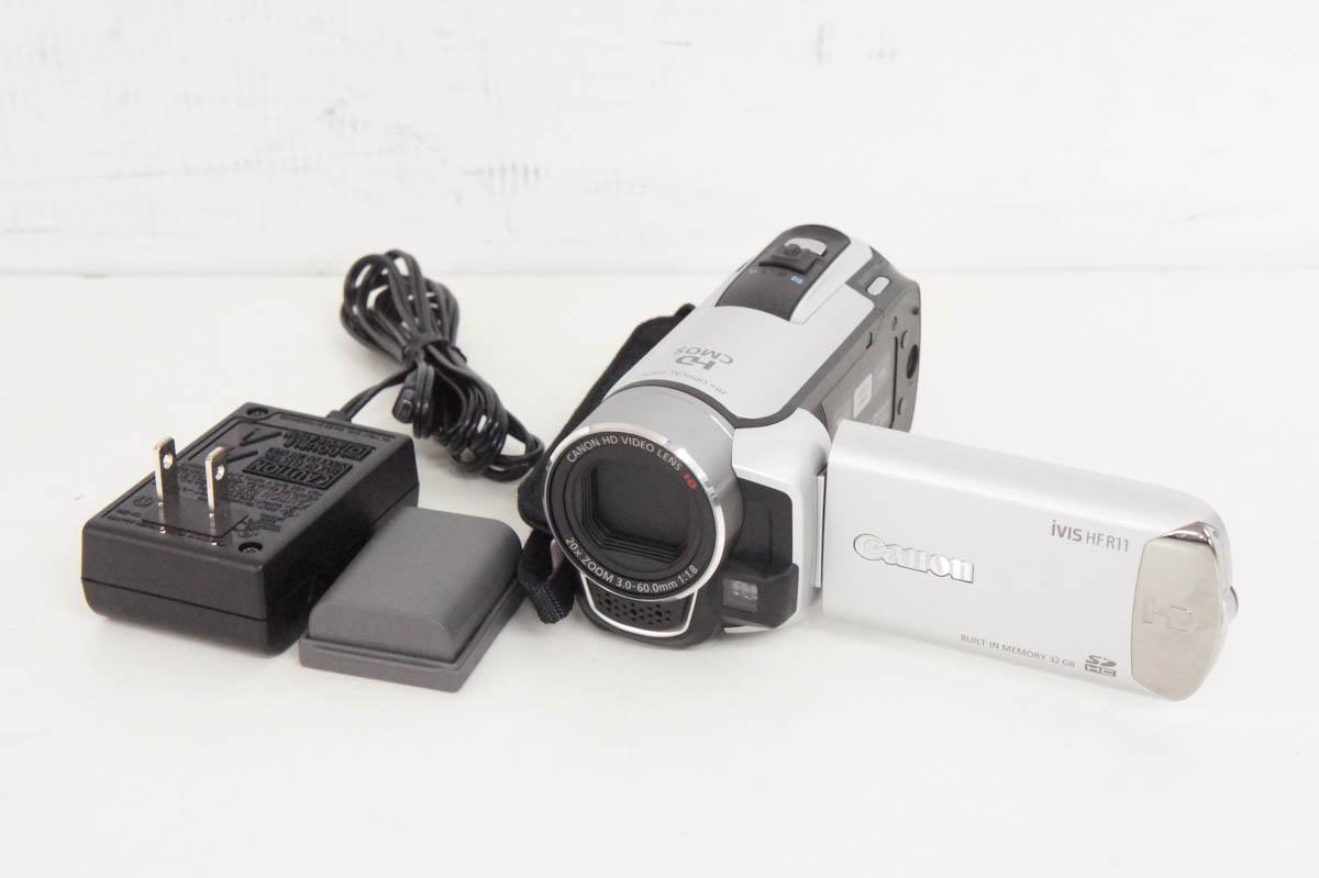 安心の90日保証 中古 春の新作 出荷 キヤノンCANON フルハイビジョンデジタルビデオカメラ iVIS メモリータイプ R11 HF