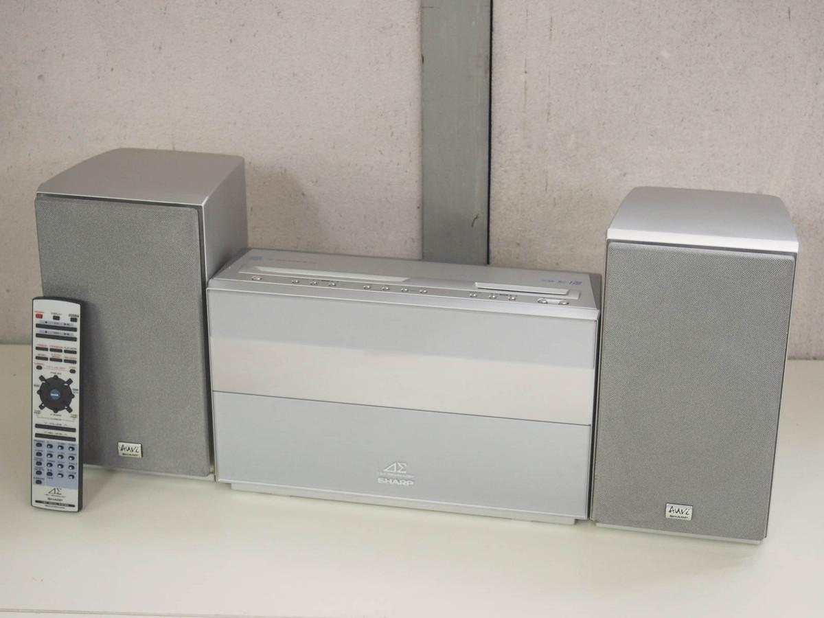 【中古】SHARPシャープ 1ビットオーディオシステム Auviアウヴィ CD/MD/ラジオ MDLP対応 SD-CX10-S ミニコンポ オーディオ【10P03Dec16】【カード分割】
