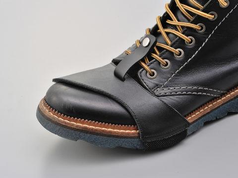 チェンジペダルによる靴のダメージをガード つけたまま歩いても外れにくい 賜物 特価 ハズレニクイシフトパッド S BK