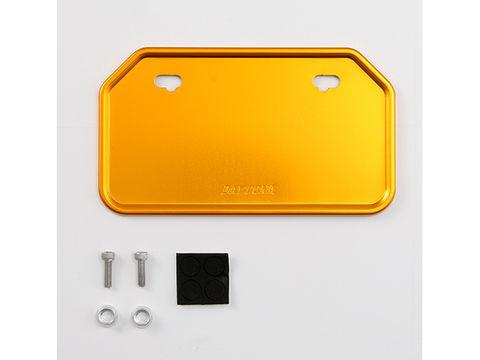 ナンバープレートのひび割れ 破損や 汚れから保護 ゴールド 高額売筋 使い勝手の良い M ALナンバープレートホルダ