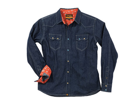 NHB1502デニムシャツ/インディゴ XL
