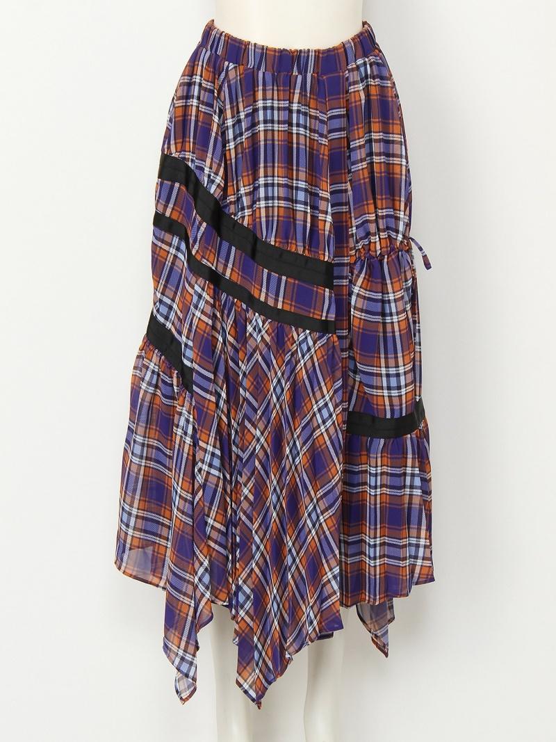 [Rakuten BRAND AVENUE]【SALE/40%OFF】チェックパターンデザインスカート スナイデル スカート【RBA_S】【RBA_E】【送料無料】