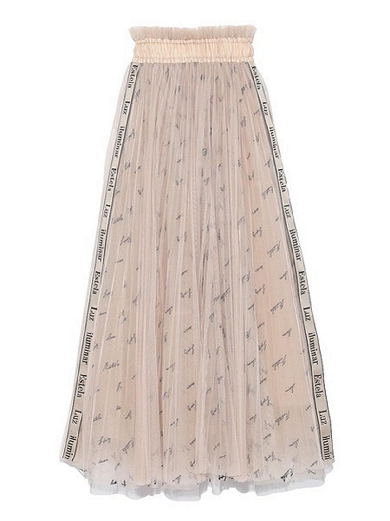 [Rakuten BRAND AVENUE]ロゴ刺繍チュールスカート SNIDEL スナイデル スカート【送料無料】