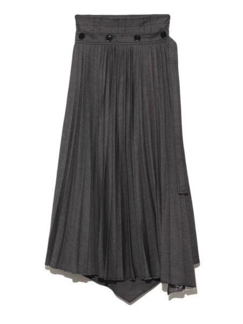 [Rakuten Fashion]プリーツレイヤードSK SNIDEL スナイデル スカート プリーツスカート/ギャザースカート ブラック ブルー【送料無料】