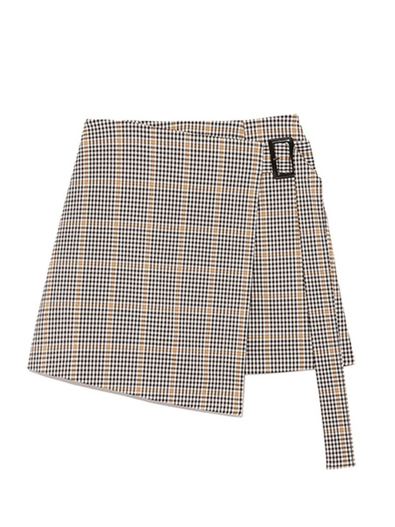 [Rakuten BRAND AVENUE]チェックラップミニスカート SNIDEL スナイデル スカート【送料無料】