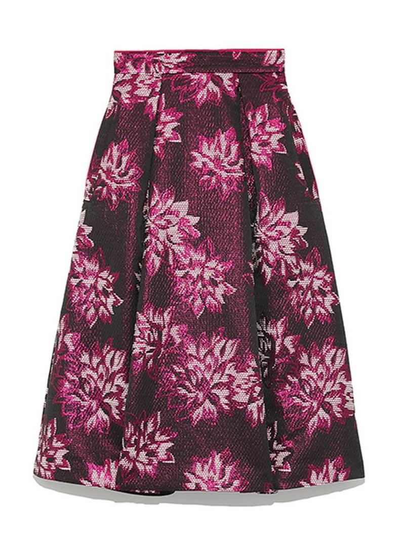 [Rakuten BRAND AVENUE]オリジナルジャガードフレアミドルスカート SNIDEL スナイデル スカート【送料無料】
