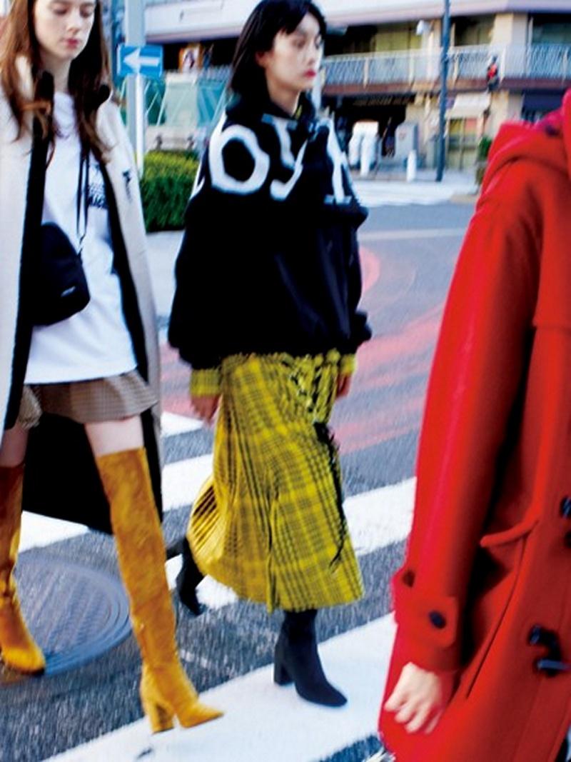 [Rakuten BRAND AVENUE]チェックスリットスカート SNIDEL スナイデル スカート【送料無料】