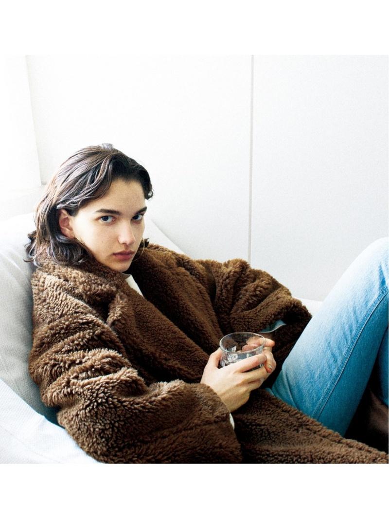 [Rakuten Fashion]【SALE/45%OFF】ファーライクボアロングCT SNIDEL スナイデル コート/ジャケット ロングコート ブラウン ネイビー ベージュ【RBA_E】【送料無料】