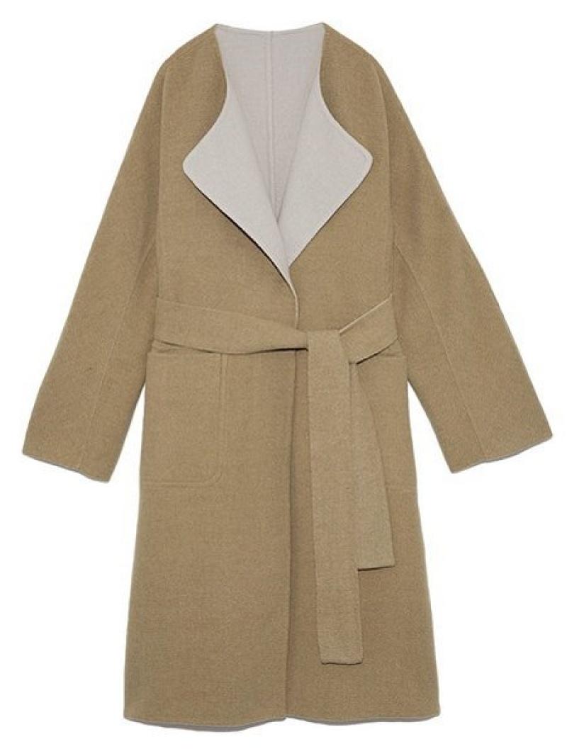 [Rakuten Fashion]【SALE/45%OFF】リバーシブルウールCT SNIDEL スナイデル コート/ジャケット ロングコート ブラウン ホワイト【RBA_E】【送料無料】