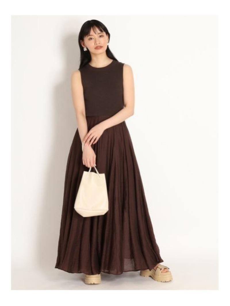 Rakuten Fashion ニットxシアーSKドッキングOP SNIDEL スナイデル ワンピース ニットワンピース ブラbg7Y6vfy