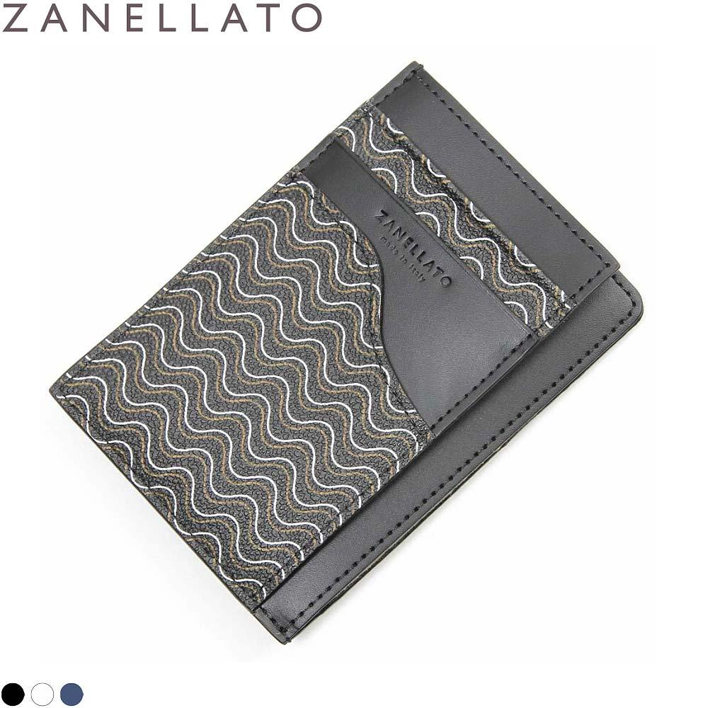 国内正規品 ZANELLATO ザネラート ULISSE ミニ財布 カードケース メンズ レディース コンパクト財布 小銭入れあり マネークリップ 名刺入れ 本革 BLANDINE ブランディーン PVCコーティングキャンバス 36284