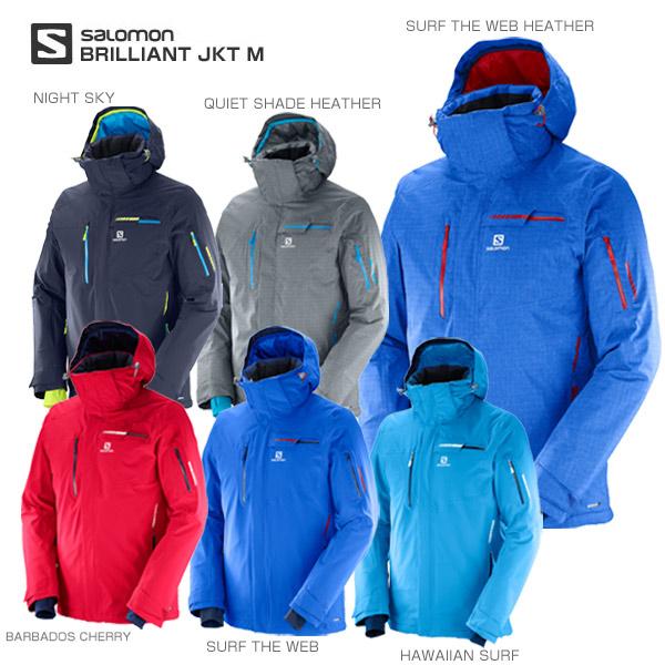 SALOMON〔サロモン スキーウェア ジャケット メンズ レディース〕<2018>BRILLIANT JKT M【送料無料】【MUJI】 スキー スノーボード