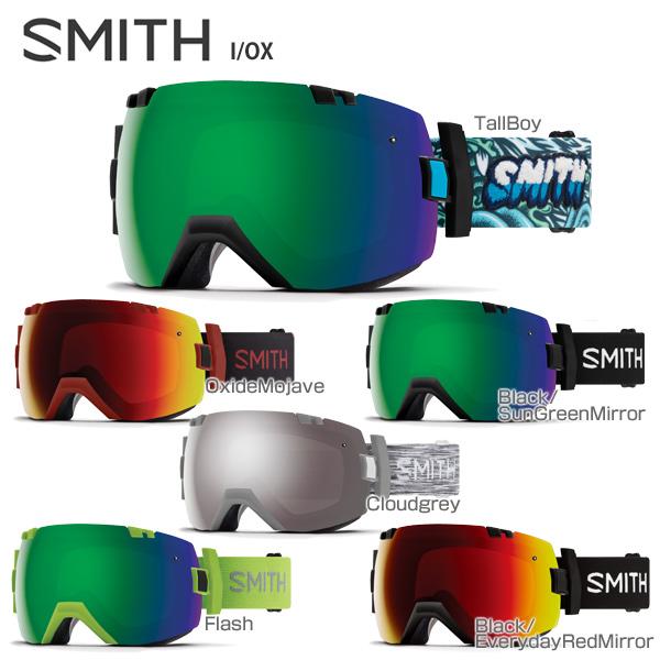 【18-19 NEWモデル】SMITH 〔スミス スキーゴーグル〕<2019>I/OX〔アイオーエックス〕【スペアレンズ付】【眼鏡・メガネ対応ゴーグル】【送料無料】 スキー スノーボード