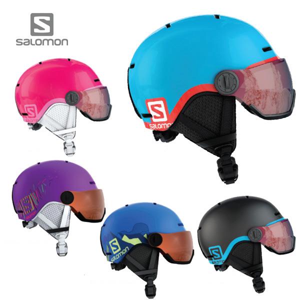 〔全品ポイント5倍!12日20時~18日13時まで〕【18-19 NEWモデル】SALOMON〔サロモン ジュニア スキーヘルメット〕<2019>GROM VISOR スキー スノーボード