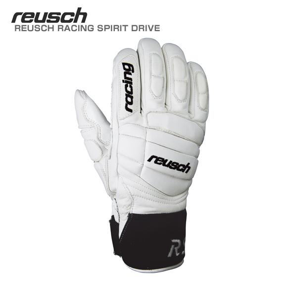 REUSCH〔ロイシュ スキーグローブ〕<2019>REUSCH RACING SPIRIT DRIVE〔レーシングスピリットドライブ〕/REU18RSDR〔WH ホワイト〕【送料無料】 スキー スノーボード
