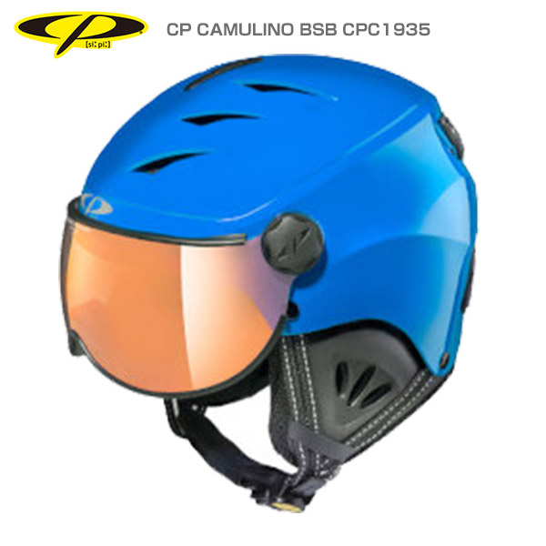 CP〔シーピー ジュニア スキーヘルメット〕<2019>CP CAMULINO BSB CPC1935〔ブルーシャイン/ブラック〕【A】
