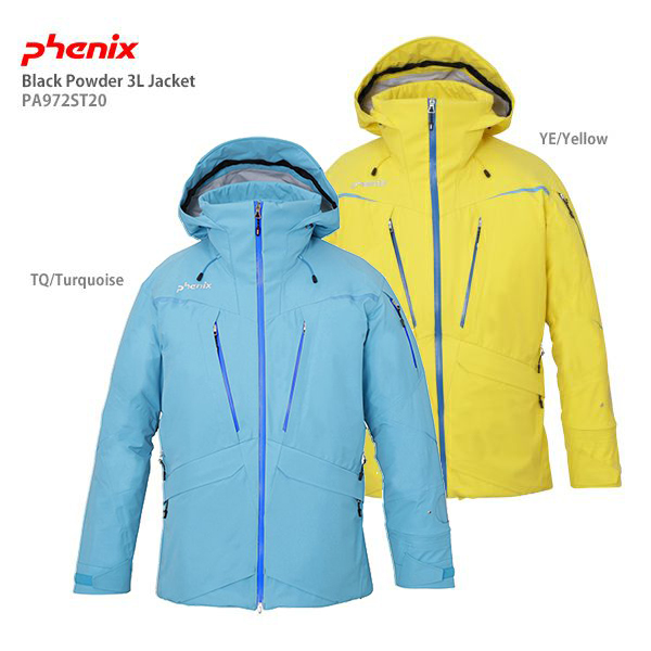 【19-20 NEWモデル】PHENIX〔フェニックス スキーウェア ジャケット〕<2020>Black Powder 3L Jacket PA972ST20【送料無料】