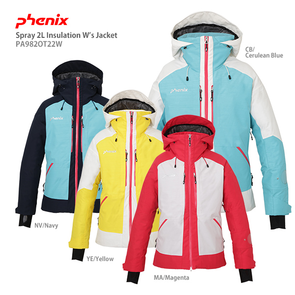 【19-20 NEWモデル】PHENIX〔フェニックス スキーウェア レディース ジャケット〕<2020>Spray 2L Insulation W's Jacket PA982OT22W【送料無料】
