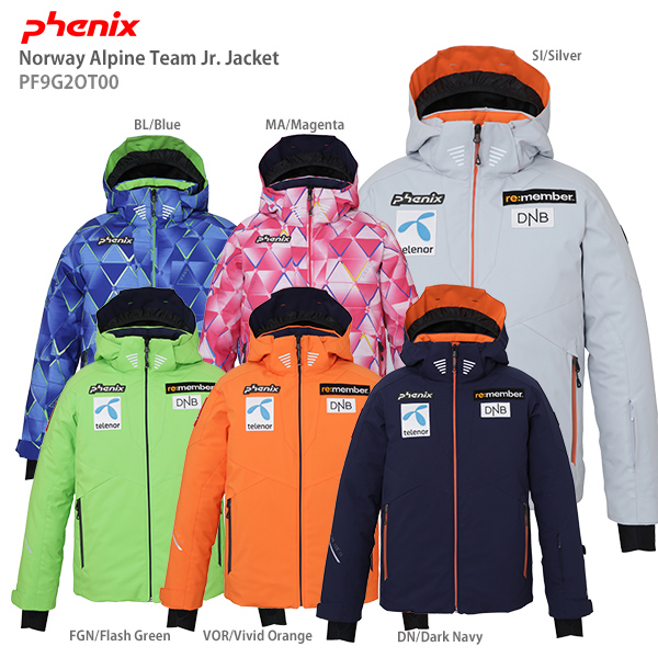 PHENIX phoenix skiwear youth jacket 2020 Norway Alpine Team Jr. Jacket PF9G2OT00 19 20 NEW model