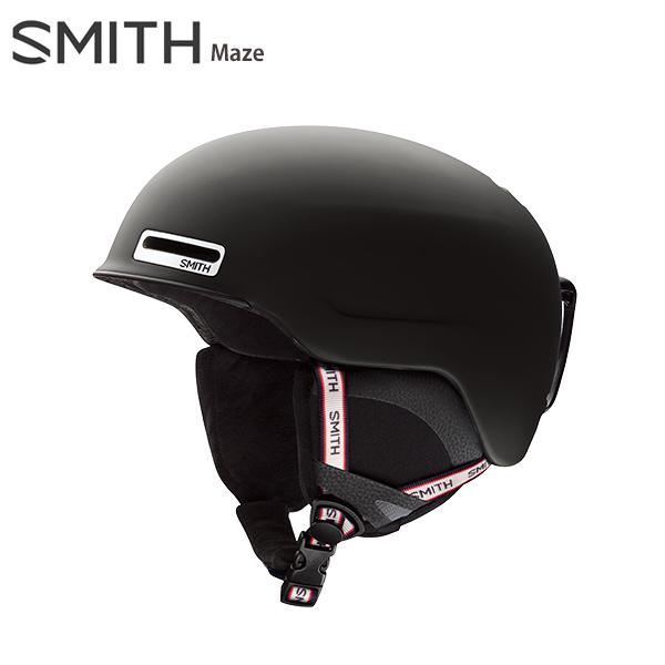 【39ショップ限定!エントリーでP2倍 6/11 01:59まで】SMITH スミス スキーヘルメット 2020 Maze メイズ Matte Black Repeat 19-20【A】