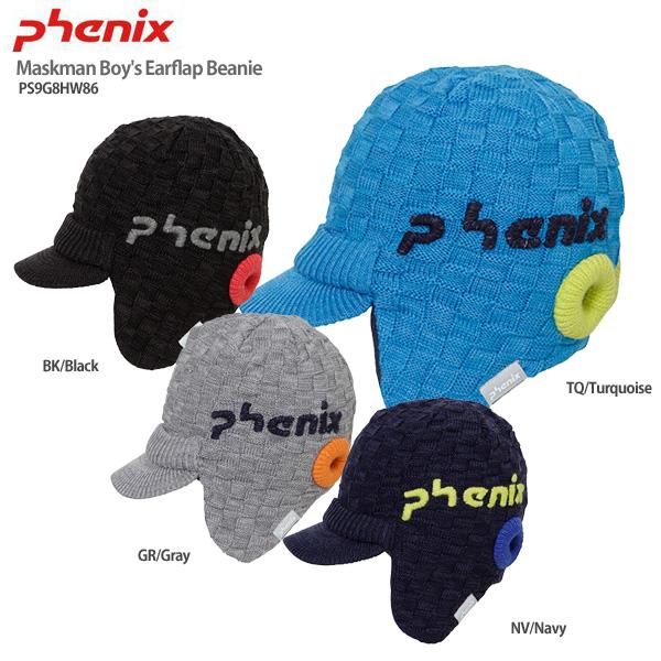 3 NEW ARRIVAL 980円以上で送料無料 代引手数料無料 フェニックス ジュニア ニット帽 子供用 PHENIX 19-20 Maskman PS9G8HW86 Boy's Earflap スキー Beanie セットアップ 2020 スノーボード 旧モデル