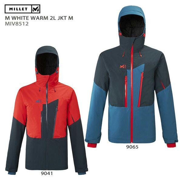 【39ショップ限定!エントリーでP2倍 6/11 01:59まで】MILLET〔ミレー スキーウェア ジャケット メンズ〕<2020>M WHITE WARM 2L JKT M/MIV8512 送料無料 19-20
