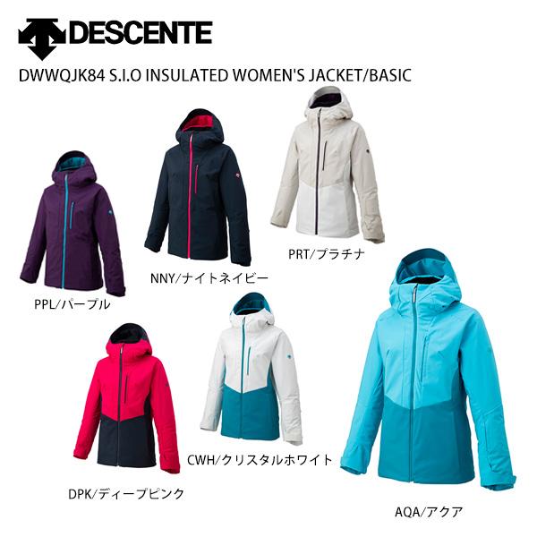 DESCENTE〔デサント スキーウェア レディース ジャケット〕 現金特価 2022 DWWQJK84 JACKET INSULATED WOMEN'S S.I.O 本日限定 BASIC MUJI