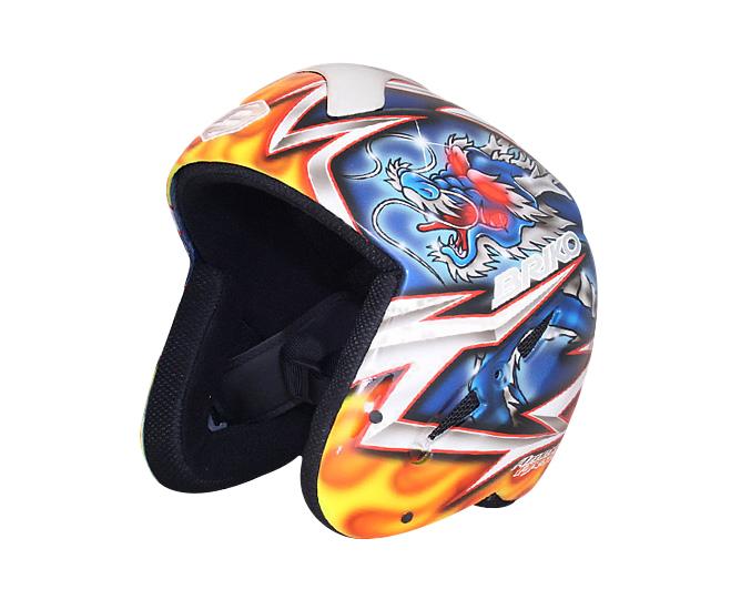 グラフィックデザイン・ペイントはアズメリープレゼンツ、デザインのメインテーマは龍 BRIKO 013140P RYU ブリコ メンズ・レディース ヘルメット オリジナルペイント(龍)