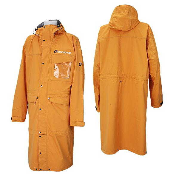 オンヨネ スキー オーバージャケット ポンチョ OVER JACKET メンズ ONJ93999-11 143(ライトオレンジ)