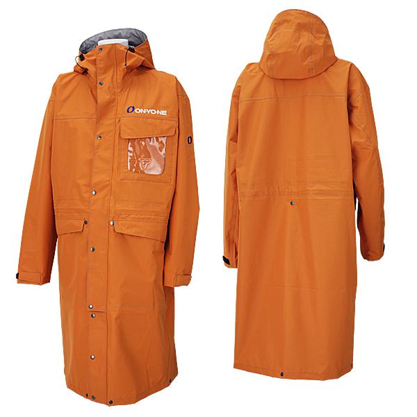 ★普通便で送料無料★オンヨネ スキー オーバージャケット ポンチョ OVER JACKET メンズ ONJ93999-14 155(オレンジ)