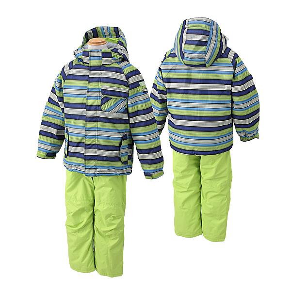 (上) ONYONE 木犀孩子滑雪服的孩子 (DADES) RES57003 009 P 335 (布拉克/石灰)