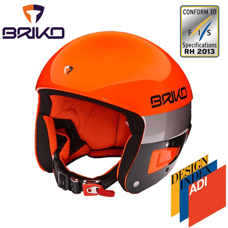 BRIKO VULCANO ボルケーノ FIS6.8 レーシング スキーヘルメット 2017-2018w メンズ レディース 2000020 901(オレンジフローxブラック)