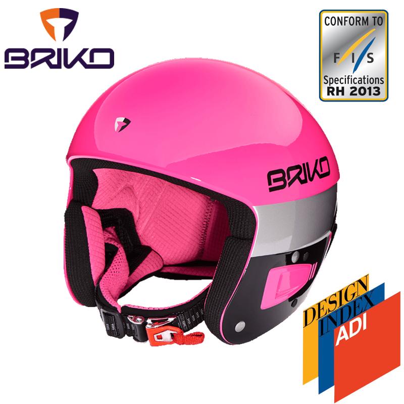 BRIKO VULCANO ボルケーノ FIS6.8 レーシング スキーヘルメット 2017-2018w メンズ レディース 2000020 A30(ピンクエクスプローションxブラック)