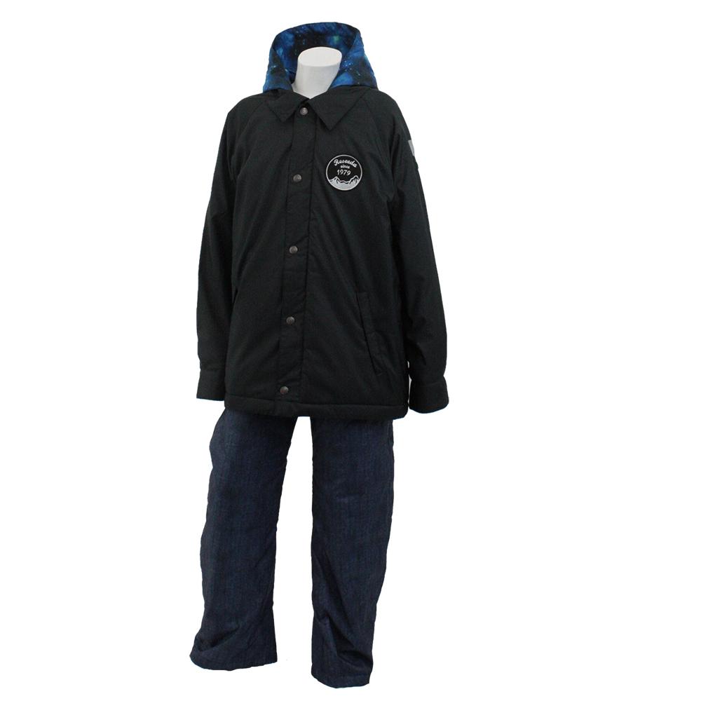 ONYONE(オンヨネ) RES70009 スキーウェア ジュニア 上下セット (ブラックxデニム)