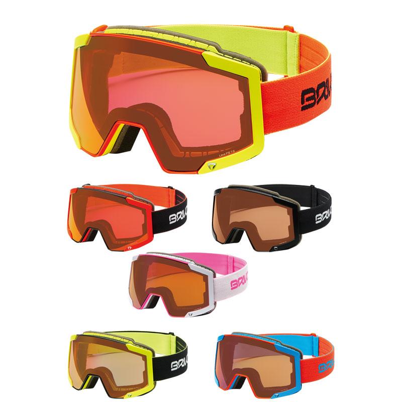 BRIKO(ブリコ) 2001FT0 LAVA FIS 7.6 スキーゴーグル 平面ダブルレンズ 大人用 レーシング