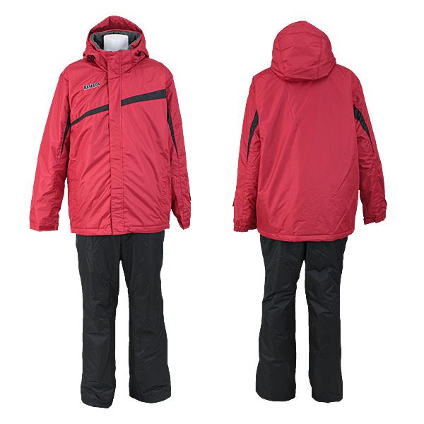 メンズ 大きいサイズ BB体 スキーウェア 上下セット 中綿入り サロペットタイプ  RES98BB1 056x009(REDxBLACK)