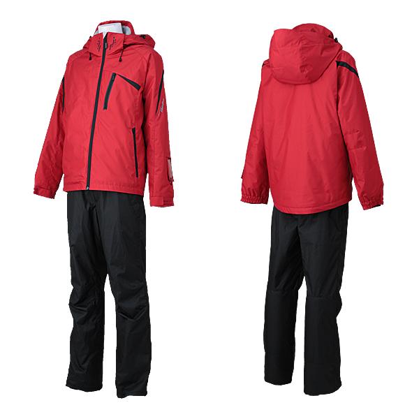 メンズ スキーウェア 上下セット 中綿入り  耐水圧10,000mm RUS98011 056x009(REDxBLACK)