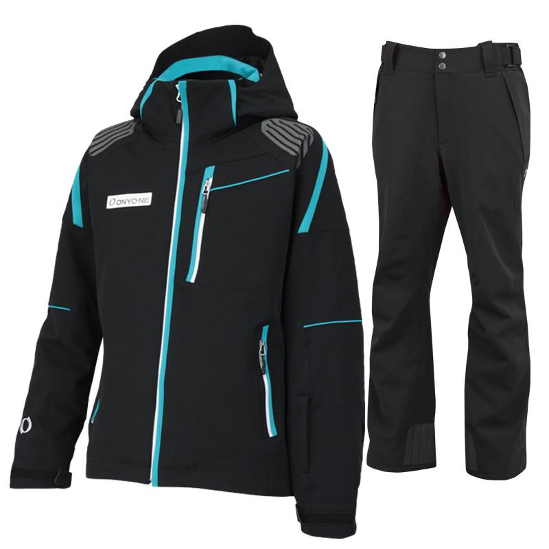 スキージャケット&パンツ 上下セット ONJ99300-99310 009009(BLACKxBLACK)