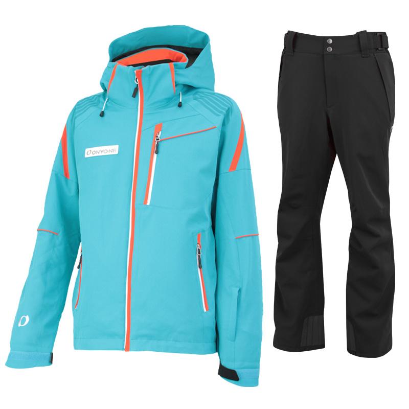 スキージャケット&パンツ 上下セット ONJ99300-99310 577009(GREENxBLACK)