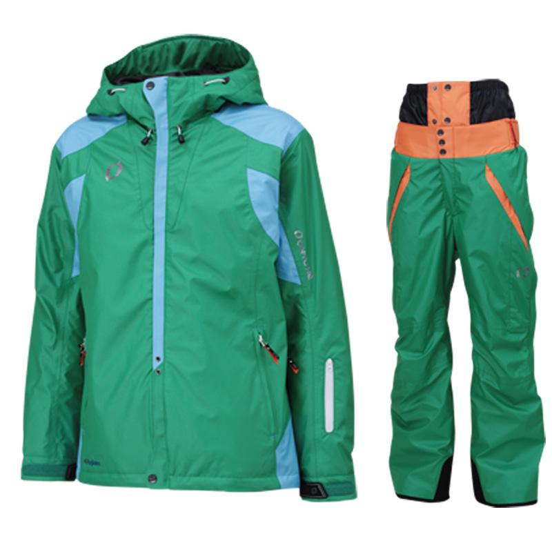 メンズ レディース スキーウェア上下セット on97510-97550 455x455(GREENxGREEN)