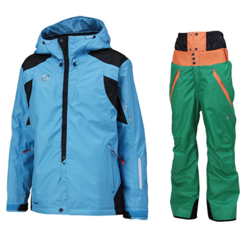 メンズ レディース スキーウェア上下セット on97510-97550 613x455(SKYxGREEN)