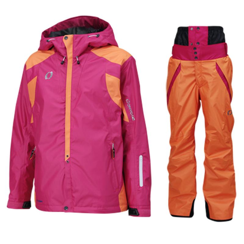 メンズ レディース スキーウェア上下セット on97510-97550 954x114(MAGENTAxORANGE)