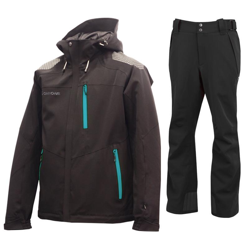 スキージャケット&パンツ 上下セット ONJ99350-99310 009009(BLACKxBLACK)