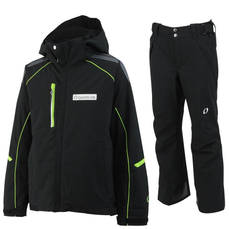 ONYONE(オンヨネ)スキーウェアセット ONJ90300とONP90400の上下セット on90300set 009009(ブラックxブラック)