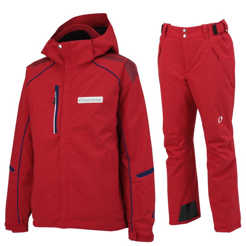 ONYONE(オンヨネ)スキーウェアセット ONJ90300とONP90400の上下セット on90300set 055055(レッドxレッド)
