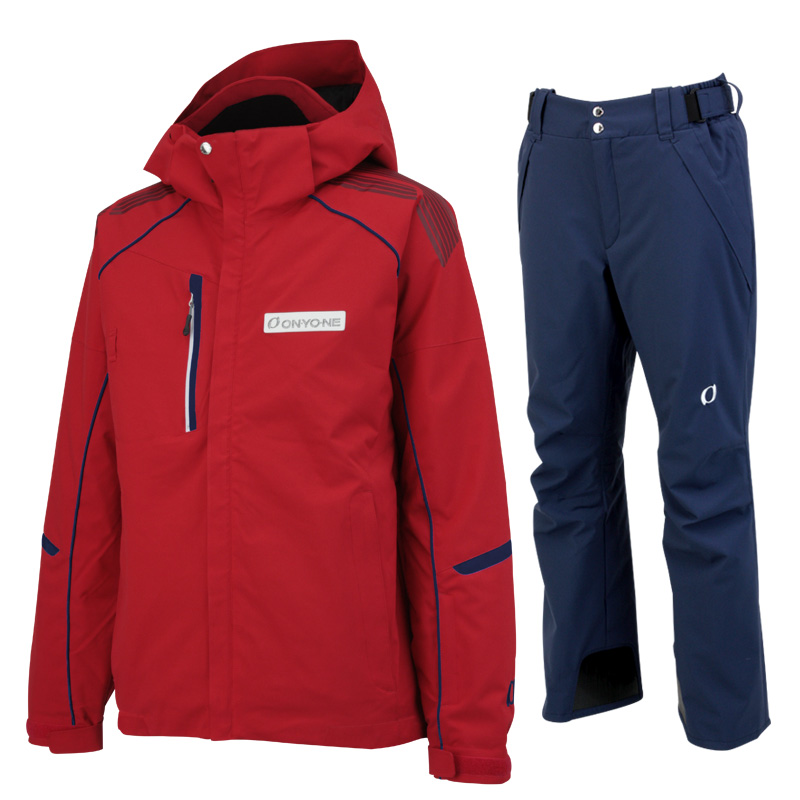 ONYONE(オンヨネ)スキーウェアセット ONJ90300とONP90400の上下セット on90300set 005698(レッドxネイビー)