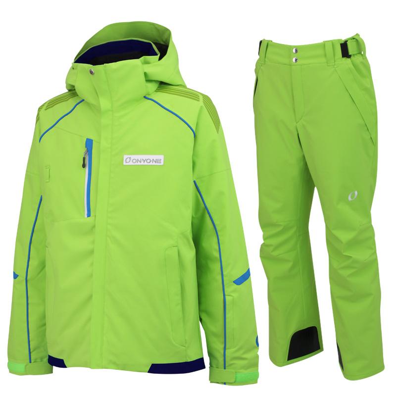 ONYONE(オンヨネ)スキーウェアセット ONJ90300とONP90400の上下セット on90300set 333333(ライムxライム)